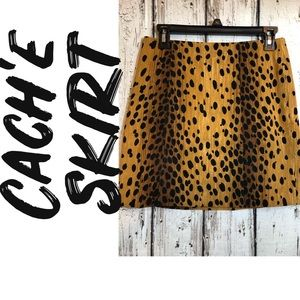 Cach'e animal print skirt, Size 6